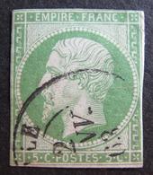 LOT R1749/52 - NAPOLEON III N°12 - CàD De 1863 - Cote : 95,00 € - 1853-1860 Napoléon III
