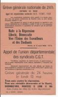 Affiche Appel à La Greve 13 MAI 1968 En Saone Et Loire - Affiches
