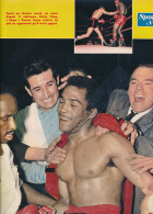 BOXE : PHOTO, COMBAT SUGAR RAMOS - RAFIU KING, CHAMPIONNAT DU MONDE DES POIDS PLUMES,  COUPURE REVUE (1962) - Autres