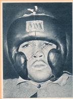 BOXE : PHOTO, SUGAR RAMOS A L'ENTRAINEMENT, CHAMPIONNAT DU MONDE DES PLUMES FACE A RAFIU KING, COUPURE REVUE (1962) - Boxe
