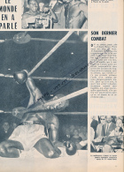 BOXE : PHOTO, BENNY PARET - EMILE GRIFFITH, CHAMPIONNAT DU MONDE DES POIDS WELTERS, COUPURE REVUE (1962) - Boxe