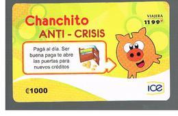 COSTA RICA - ICE (REMOTE) - 2010 CHANCHITO ANTICRISIS  - USED - Costa Rica