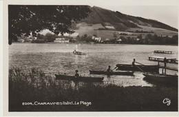 CPA - PHOTO - CHARAVINES - LA PLAGE - 2004 - LA CIGOGNE - BARQUES - Charavines