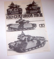 Modellismo Tank - Tamiya - Istruzioni Montaggio Centurion Mk III - Scala 1:35 - Non Classificati