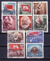 DDR 1953, Mi.Nr. 344-353, Karl Marx, Gestempelt (530344-1) - [6] Repubblica Democratica
