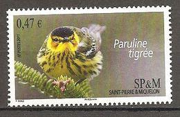 SPM St Pierre Et Miquelon 2011 Paruline Tigrée Michel No. 1084 MNH Mint Postfrisch Neuf - Ongebruikt