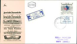 """Israel FDC 1991, 150 Jahre Zeitschrift """"Jewish Chronicle"""", Michel 1201 (3-38) - FDC"""