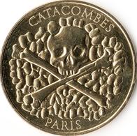 75014 PARIS LES CATACOMBES TÊTE DE MORT  MÉDAILLE TOURISTIQUE  MONNAIE DE PARIS 2016 JETON MEDALS COINS TOKENS - 2016