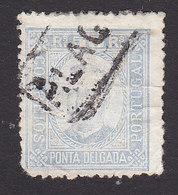 Ponta Delgada, Scott #6, Used, King Carlos, Issued 1892 - Ponta Delgada