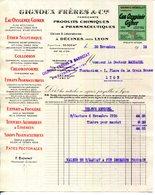 69.DECINES.PRODUITS CHIMIQUES & PHARMACEUTIQUES.GIGNOUX FRERES FABRICANTS. - Chemist's (drugstore) & Perfumery