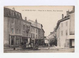 La Tour Du Pin. Place De La Nation. Rue Centrale. Fontaine. Enfants. (2805) - La Tour-du-Pin