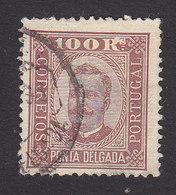 Ponta Delgada, Scott #9, Used, King Carlos, Issued 1892 - Ponta Delgada