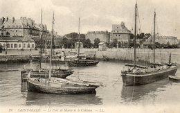 SAINT MALO....le Port De Maree Et Le Chateau... - Saint Malo
