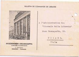 Commerciale Illustrata -Helsinki - Finlande - Akateeminen Kirjakauppa ( Librairie Acadèmique ) 1953 - Negozi