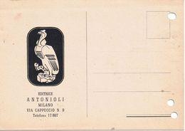 Commerciale Illustrata - Casa Editrice Antonioli Via Cappuccio Milano -1946- Fori Da Archiviazione - Negozi