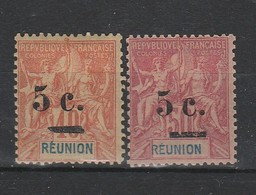 REUNION  YT  52 ET 53  NEUF  *   COTE 16    TB - Réunion (1852-1975)