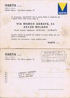 Commerciale Doppia, Recapitata Come Stampa, Non Affrancata - Varta Milano ( Via Agrate ) 1972 - Negozi
