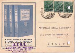 Cartolina Pubblicitaria Casa Editrice UTET - Storia Della Musica - Fori D' Archivio - 1946 - Negozi