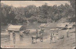 At The Ford, Ceylon, C.1910 - Plâté & Co Postcard - Sri Lanka (Ceylon)