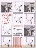 Cartolina+ Tagliando Ingresso 6 Trofeo Judo Spilimbergo - 1969 - Martiaux