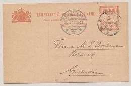 Suriname - 1912 - 5 Cent Briefkaart G20 Van Paramaribo Naar Amsterdam - Suriname ... - 1975