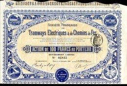 Société Francaise De TRAMWAYS ÉLECTRIQUES & De CHEMINS De FER - Chemin De Fer & Tramway