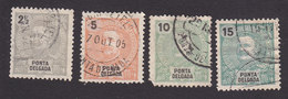 Ponta Delgada, Scott #13-15, 17, Used, King Carlos, Issued 1897 - Ponta Delgada
