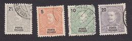 Ponta Delgada, Scott #13-15, 18, Used, King Carlos, Issued 1897 - Ponta Delgada
