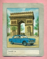 COUVERTURE DE CAHIER  : PEUGEOT 404 Et ARC DE TRIOMPHE - Automobile