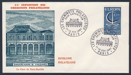 France Rep. Française 1967 Cover / Brief / Enveloppe - Gare Paris-Bastille, Paris / Railway Station / Bahnhof - Treinen