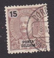 Ponta Delgada, Scott #16, Used, King Carlos, Issued 1897 - Ponta Delgada