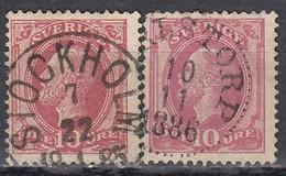 SCHWEDEN 1885 - MiNr: 28 + 38  Used - Gebraucht
