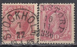 SCHWEDEN 1885 - MiNr: 28 + 38  Used - Schweden