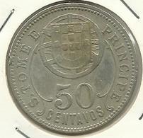 SAINT THOMAS & PRINCE - 50 CENTAVOS - 1928 - NIKEL-BRONZE - RARE - NICE PRICE - Sao Tomé E Principe