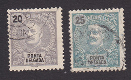 Ponta Delgada, Scott #18-19, Used, King Carlos, Issued 1897 - Ponta Delgada