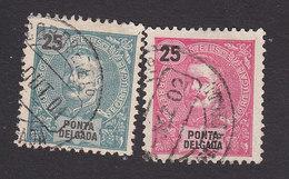 Ponta Delgada, Scott #19-20, Used, King Carlos, Issued 1897 - Ponta Delgada