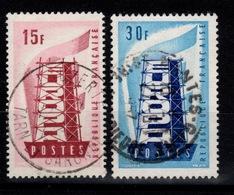 Europa YV 1076 & 1077 Obliteres Cote 1,55 Euros - France