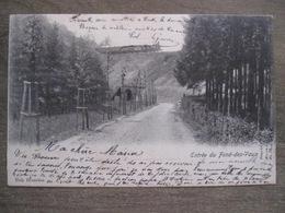 Cpa Fond Des Vaulx Fond Des Vaux Marche En Famenne - Entrée Chemin De Fer Tunnel - Nels - 1902 - Marche-en-Famenne