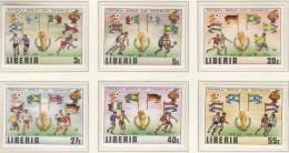 LIBERIA  1187-1192, Postfrisch **, Fussball-Weltmeisterschaft 1982 In Spanien - 1982 – Espagne