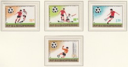 ALBANIEN  2080-2083, Postfrisch **, Fussball-Weltmeisterschaft 1982 In Spanien - 1982 – Espagne