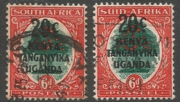 Kenya, Uganda & Tanganyika. 1941-42 Stamps Of South Africa O/P. 20c On 6d Used Singles. SG 153 - Kenya, Uganda & Tanganyika