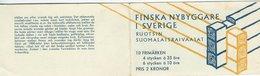 Sweden - Booklet. Finnish Setlers In Sweden.  H-1360 - Booklets