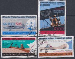 Comores P. A. N° 247 / 50  O  L'avion Et La¨Poste : La Série Des 4 Valeurs Obli. Légères (le 247 Angle Court)  Sinon TB - Comores (1975-...)