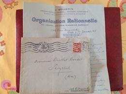 Lyon Gare Bellemin Tony - Poststempel (Briefe)
