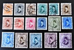 ROYAUME - ROI FOUAD 1ER 1927/32 - OBLITERES - YT 118/28 - Egypt