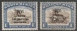 Kenya, Uganda & Tanganyika. 1941-42 Stamps Of South Africa O/P. 70c On 1/- Used Singles. SG 154 - Kenya, Uganda & Tanganyika