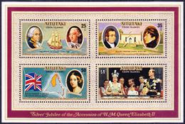 Aitukaki - 25. Jahrestag Thronbesteigung (MiNr: Bl. 15) 1977 - Postfrisch MNH - Aitutaki