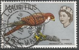 Mauritius. 1965 Birds. 25c Used. Upright Mult Block CA W/M SG 324 - Mauritius (...-1967)