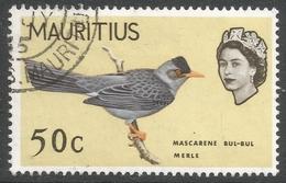 Mauritius. 1965 Birds. 50c Used. Upright Mult Block CA W/M SG 326 - Mauritius (...-1967)