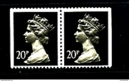 GREAT BRITAIN - 1989  MACHIN  20p. PCP PAIR IMPERF SIDES MINT NH  SG  X960 - 1952-.... (Elisabetta II)